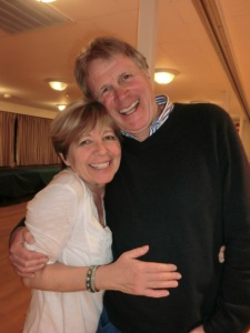 Photo: A happy Monica Olofsson, chair of the Swedish Cultural Society, with the Pubnite guest Bo-Christer
